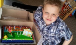 Nicholas celebrating his birthday in 2013