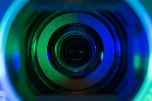 http://www.dreamstime.com/stock-photos-video-camera-lens-lit-blue-teal-colors-image35115983