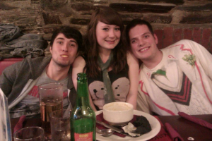 Alex Glover with sister Rebecca and friend Ol. Taken from Facebook