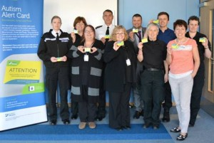 Caption: Equality and Diversity Officers from Dorset Police with Karen Wilmshurst at the first autism training session.