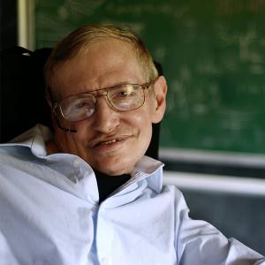 Professor Stephen Hawking, image taken from Facebook