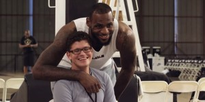 Matthew and LeBron James: image taken from YouTube